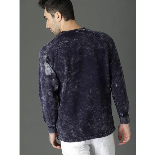 Roadster Men Navy Blue Dyed Sweatshirt
