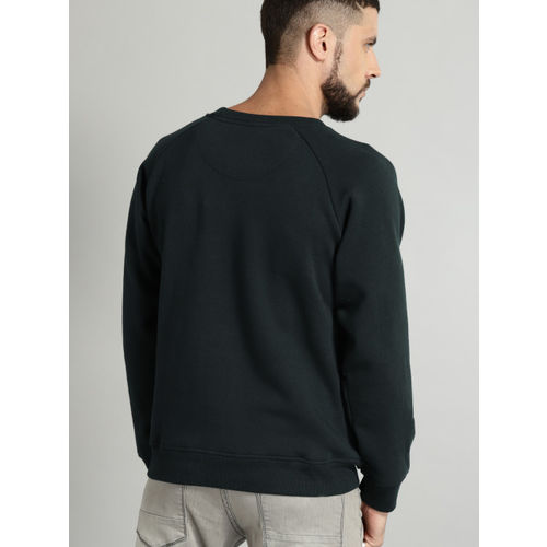 Roadster Men Navy Solid Sweatshirt