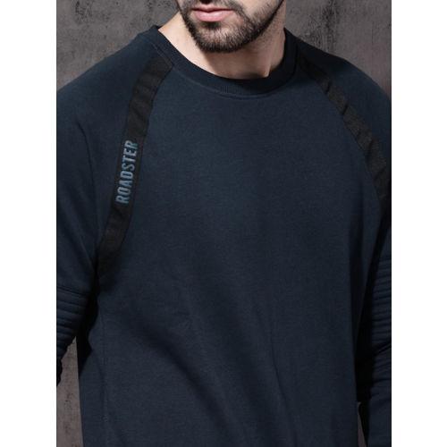 Roadster Men Navy Solid Sweatshirt