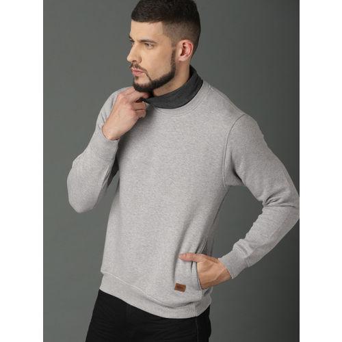 Roadster Men Grey Solid Sweatshirt