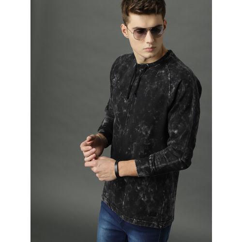 Roadster Men Charcoal Grey Dyed Sweatshirt