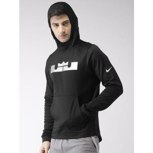 Nike Men Black Printed Standard Fit DRI-FIT Technology LBJ HOODIE PO Sweatshirt