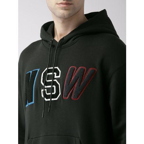 Nike Men Black Printed Loose Fit NSW HOODIE PO FLC Sweatshirt