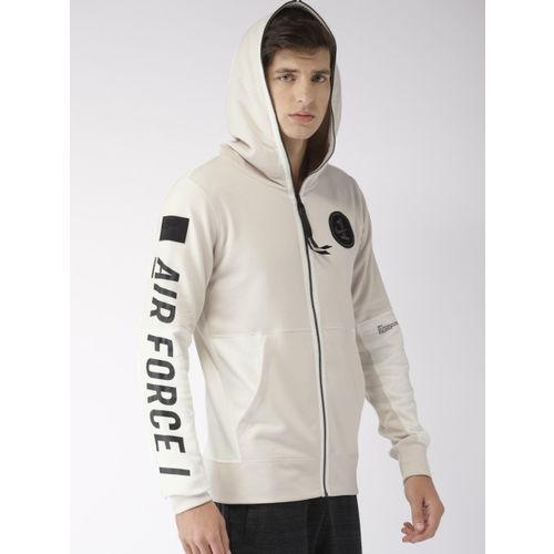 2bc3965a ... Nike Men Cream-Coloured AS NSW AF1 HOODIE FZ FT Solid Sweatshirt ...