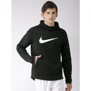Nike Men Black Printed Standard Fit DRI-FIT SPOTLIGHT HOODIE PO Sweatshirt