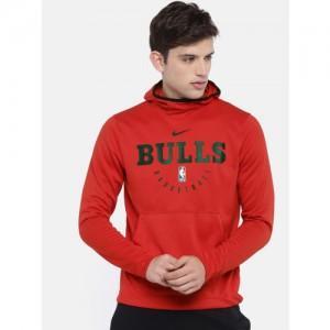 Nike Men Red & Black Printed AS CHI M NK SPOTLGHT HOODIE PO Sweatshirt