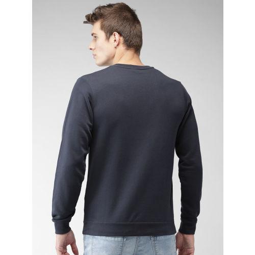 Nike Men Navy Standard Fit Sportswear CLUB Crew Solid Sweatshirt