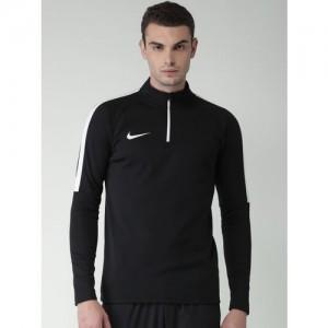 Nike Men Black Solid ACDMY DRIL Sweatshirt