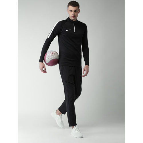 Nike Men Black Solid ACDMY DRIL Sweatshirt