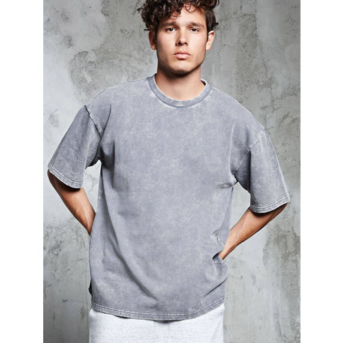 FOREVER 21 Men Grey Washed Sweatshirt