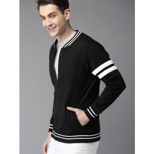 HERE&NOW Men Black Solid Sweatshirt