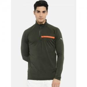 Puma Olive Green Run 360 Reflective Sweatshirt