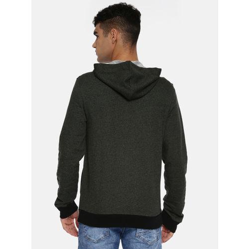 Puma Men Olive Green Solid Grindle Track Front-Open Sweatshirt