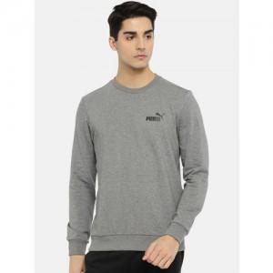Puma Men Grey ESS Logo Crew Sweatshirt