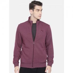 Puma Purple India Sweat Jacket TR Fig Heather Sweatshirt