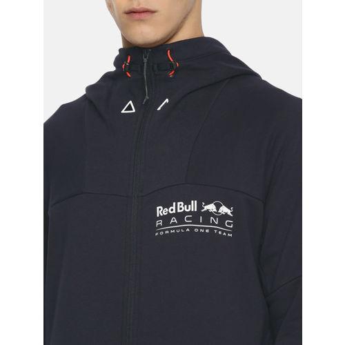 Puma Navy Blue Red Bull Racing Life Midlayer Hooded Sweatshirt