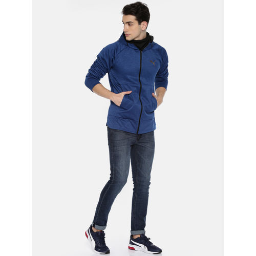 Puma Men Blue Q4 BND Tech Protect Solid Sweatshirt