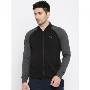 Puma Men Black Solid Base Ball Sweatshirt