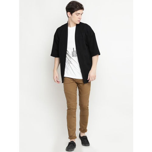 FOREVER 21 Men Black Solid Cardigan