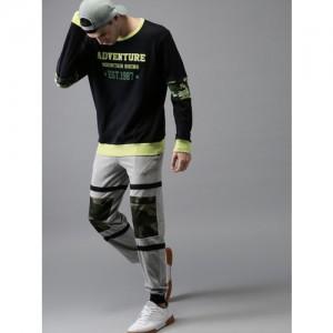 Moda Rapido Black Printed Sweatshirt