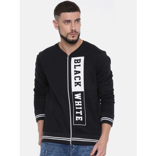 Moda Rapido Men Black Printed Sweatshirt