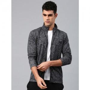HRX by Hrithik Roshan Black Solid Sweatshirt