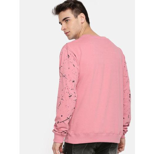 Kook N Keech Men Pink & Black Printed Sweatshirt