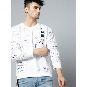 Kook N Keech Men White Printed Sweatshirt