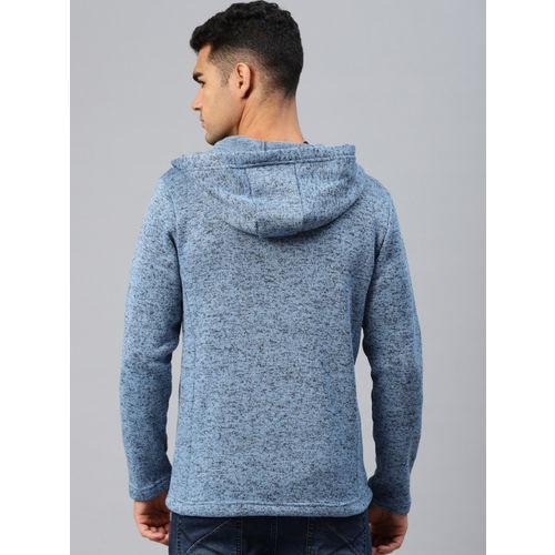 HRX by Hrithik Roshan Men Blue & Black Self Design Sweatshirt