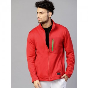 HRX by Hrithik Roshan Men Red Solid Sweatshirts