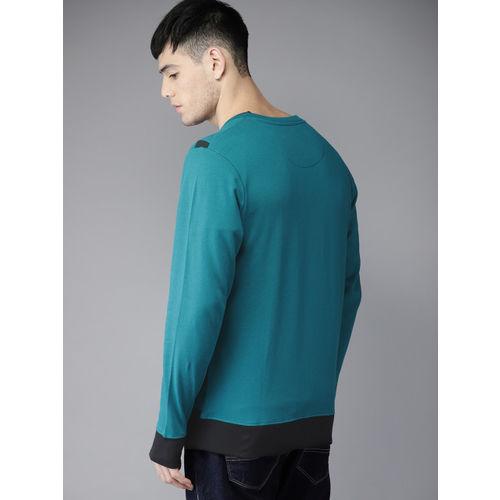 Moda Rapido Teal Printed Sweat Jacket