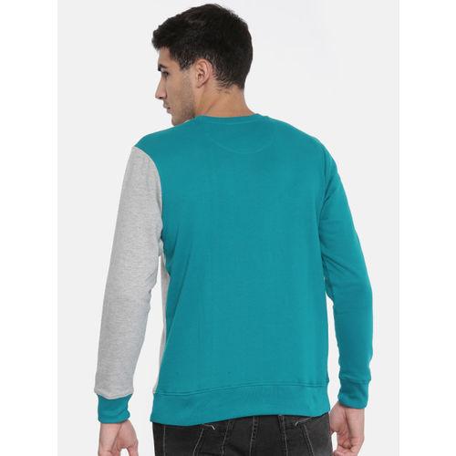 Moda Rapido Teal Printed Sweatshirt