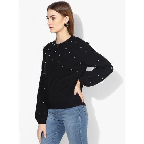 Vero Moda Black Embellished Sweater