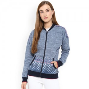 Monte Carlo Women Blue Printed Sweatshirt