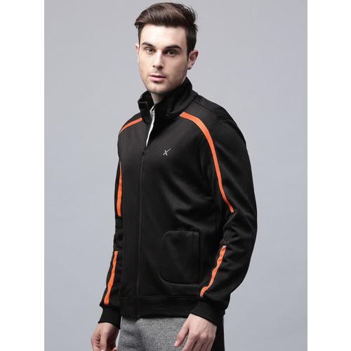 HRX by Hrithik Roshan Men Black Solid Sweatshirt