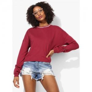 United Colors of Benetton Full Sleeve Solid Women's Sweatshirt