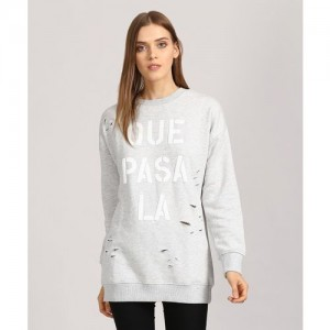 Forever 21 Full Sleeve Printed Women's Sweatshirt