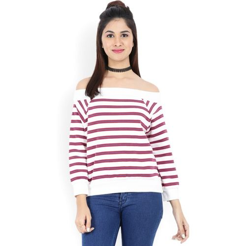 e1986a1f7c2 Buy Forever 21 Casual Full Sleeve Striped Women s White