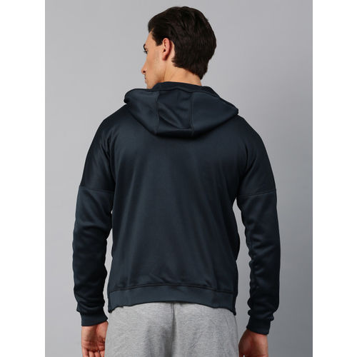 HRX by Hrithik Roshan Men Navy Solid Hooded Sweatshirt
