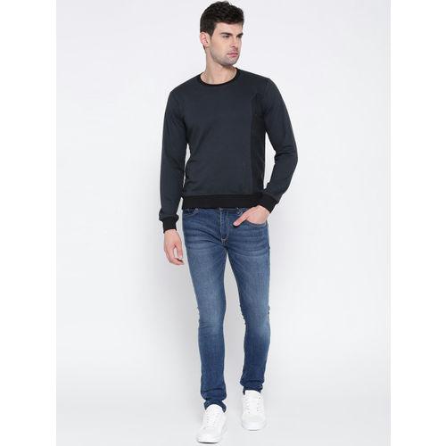 HRX by Hrithik Roshan Men Navy Solid Sweatshirt
