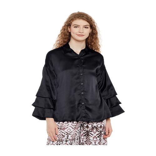 Oxolloxo Black Regular Fit Shirt