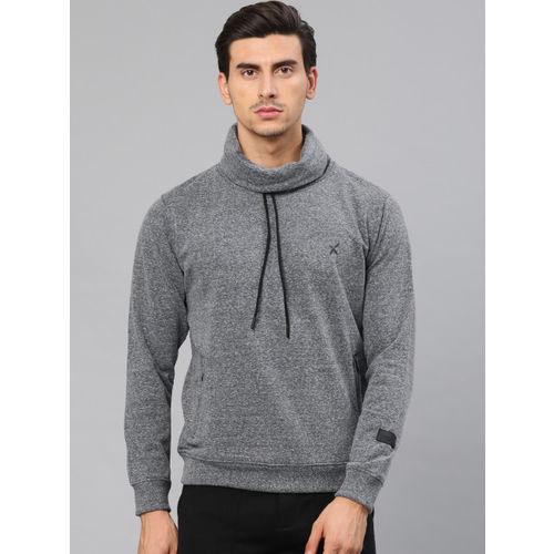 HRX by Hrithik Roshan Men Navy Blue Solid Sweatshirt