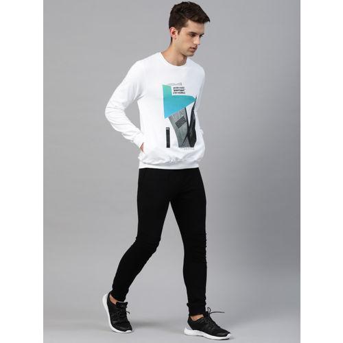 HRX by Hrithik Roshan Men White Printed Sweatshirt