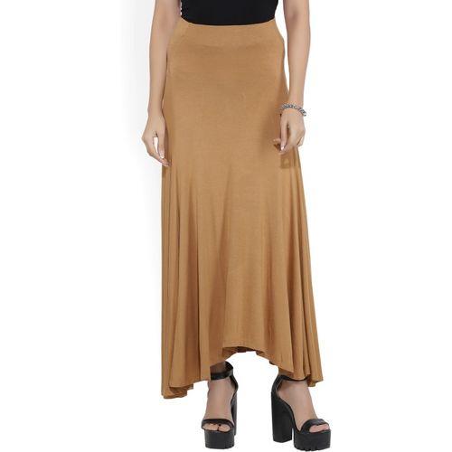 Forever 21 Solid Women's Asymetric Beige Skirt