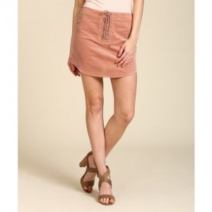 Forever 21 Solid Women's Tube Orange Skirt
