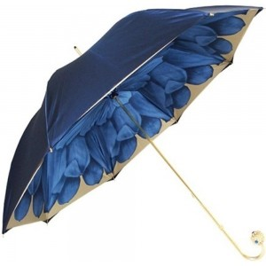 A&T London Blue Polyester Solid Umbrella
