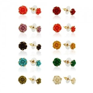 sterling cluster d colored earrings products diamond stud silver