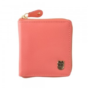 Chumbak Peach Leather Solid Wallet