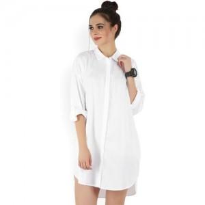 Forever 21 Women's Shirt White Dress