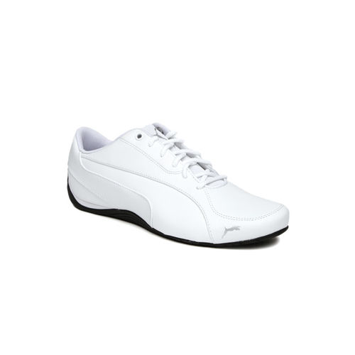 Puma Men White Drift Cat 5 Core Solid Regular Sneakers